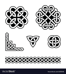 Celtic Pattern Fascinating Celtic Knots Patterns Royalty Free Vector Image