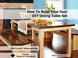 Make Your Own Kitchen Table Diy Dining Table Set Lowes 1200x902jpg