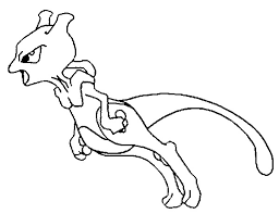 Small Picture Coloring Pages Pokemon Mewtwo Drawings Pokemon
