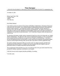healthcare administration cover letter a interview winning example of how to introduce yourself through a