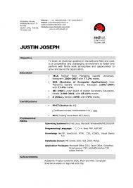 Fresher resume for hotel industry