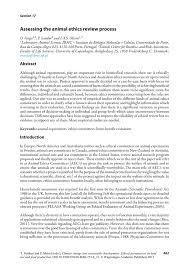 assessing the animal ethics review process springer inside