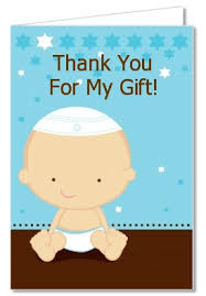 Baby Boy Thank You Cards Baby Shower Thank You Cards Jewish Baby Boy Thank You Notes