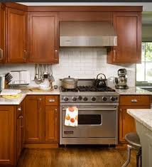 Delighful Kitchen Backsplash Light Cherry Cabinets White Counter Full Version Inside Innovation Design