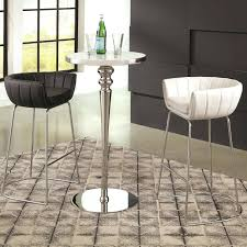 living contemporary bar table and stool set coaster fine furniture black