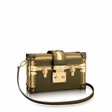 louis vuitton bags prices. louis vuitton green/gold embroidered petite malle bag bags prices