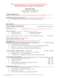 College Student Resume Template Current Resume Templates Most Up To