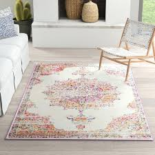 brown and pink rug beige area ikea adum light