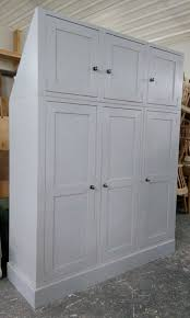 Painted Pine Bedroom Furniture Bespoke Reclaimed Pine Triple Wardrobe With Top Cupboards For