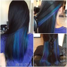 Underlights Purple And Blue Hair Peacock Hair Galaxy Hair How To Dye My Hair Black With Blue Highlights