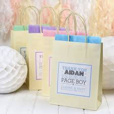 details about personalised paper wedding favour party gift bags ivory with tissue