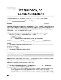 That is why you must make it a this lease agreement would be stating all the terms and conditions of the lease in a neat and organized manner. Washington Dc Residential Lease Rental Agreement Download