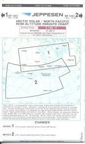 Arctic Polar North Pacific High Altitude Enroute Chart 1 2 Ap Hi 1 Np Hi 2 Jeppesen Ap Hi 1 2