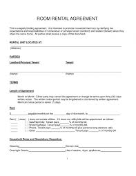 House Lease Agreement Best Photos Of Sample Rental Lease For Room Simple Room Rental 18
