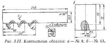 СтудБаза Блог Вспомогательные приспособления для контроля Контрольный образец № 4 рис 3 13 изготавливается из стали 20 или стали 3 Расстояние от точки выхода луча наклонного преобразователя с углом ввода 50° до
