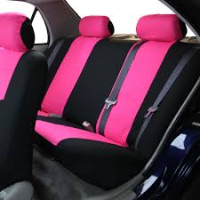full seat covers set pink w silicone steering wheel cover for car suv van 3