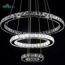 Decorative Hanging Light Fixtures Us 140 4 35 Off Modern Led Crystal Chandelier Light Fixture For Living Room Dining Room Decorative Hanging Lamp Diamond 3 Rings Chandeliers In