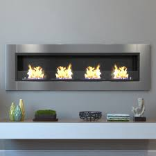 moda flame wraith  in wall mounted ethanol fireplace in