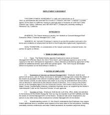 Employee Agreement Template - April.onthemarch.co