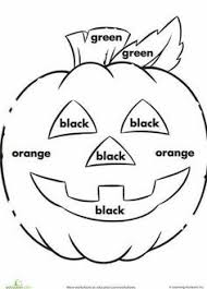 db927ea573b1850d5fe67d65a760313a halloween activities halloween crafts free!! color words worksheet! november pinterest pumpkins on sight words handwriting worksheets
