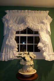 i have these country ruffled curtains by dorothy s ruffled originals