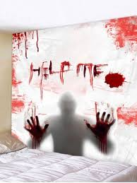 [24% OFF] <b>Halloween Blood Man Pattern</b> Wall Hanging Tapestry ...