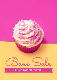 bake sale flyer templates pink and yellow bake sale fundraiser flyer templates by canva