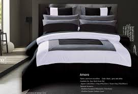 amore black grey white quilt cover set by luxton loading zoom