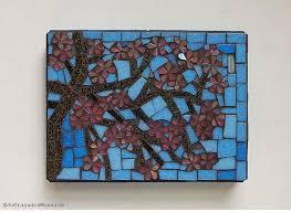 cherry tree blossom mosaic wall art