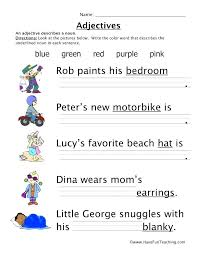 Adjectives Worksheet Packet And Lesson Plan Free Worksheets ...