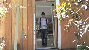 how to install a pre hung door steel door exterior door diy how to you