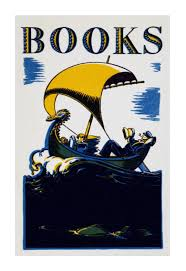 retro book posters books 1930