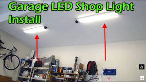 garage led light fixture replaces fluorescent