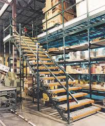 unistrut steel channel support system for mezzanines and staircases