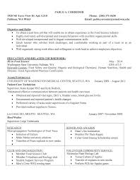 food science industry resume