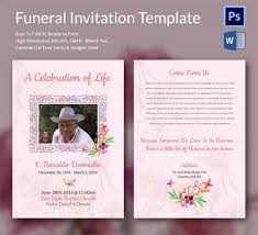 Memorial Service Invitation Template Delectable Memorial Service Invitation Sample Colbroco