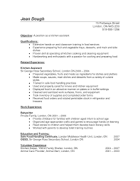 Kitchen Staff Resume Sample Sample Resume Of A Kitchen Staff Danayaus 1