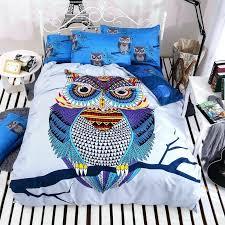 4 cotton bedding kids owls boys girls owl set bed linen twin duvet belgian cover sheet