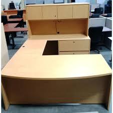 u shaped office desk used u shaped maple desk home office regarding used l shaped desk plan