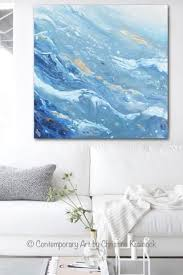 >original art blue white navy abstract painting gold leaf marbled  original art blue white navy abstract painting gold leaf marbled coastal wall art 36x36 coastal wall art beach paintings and contemporary artists