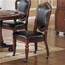 leather dining chairs with casters. Amusing Dining Room Decor: Endearing Chairs On Wheels Go Casual And Relaxed With Casters Leather L