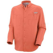 Columbia Fishing Shirt Size Chart Columbia Pfg Tamiami Long Sleeve Fishing Shirt