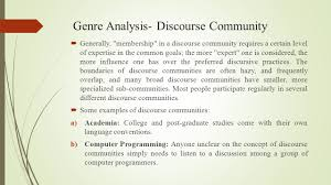 discourse community essay example the concept of discourse  mohammad alipour ahvaz branch islamic azad university ahvaz genre analysis discourse community 9257923 discourse community essay