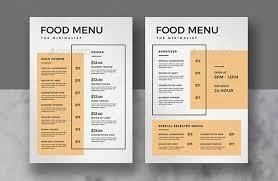 Food Menu Design 50 Tempting Restaurant Menu Designs 2018 Web Graphic Design