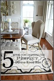 RULES FOR CHOOSING THE PERFECT DINING ROOM RUG StoneGable - Standard size dining room table