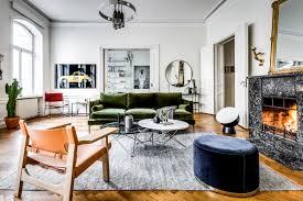 large scandinavian apartment, bohemian style living, eclectic apartment  design, mid century furniture,