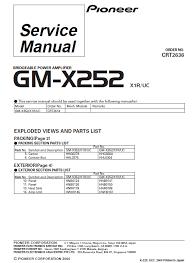 pioneer gm x352 amplifier wiring diagram gm x352 wiring pioneer pioneer gm x352 amplifier wiring diagram pioneer gm x352 service manual pdf