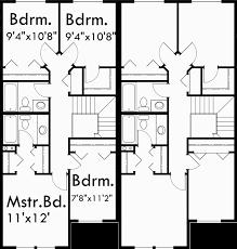 Two Story Duplex House Plans 4 Bedroom Duplex Plans Duplex Plan4 Bedroom Duplex Floor Plans