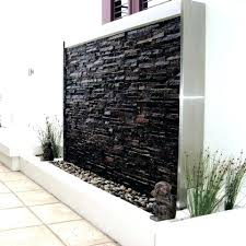 wall water features outdoor steel and stone water wall wall features water features warehouse outdoor wall