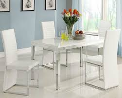 white modern dining room sets. Modern Dining Set With White Glossy Table Room Sets N